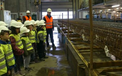 Students learn about precast concrete piles at the Denmark Factory