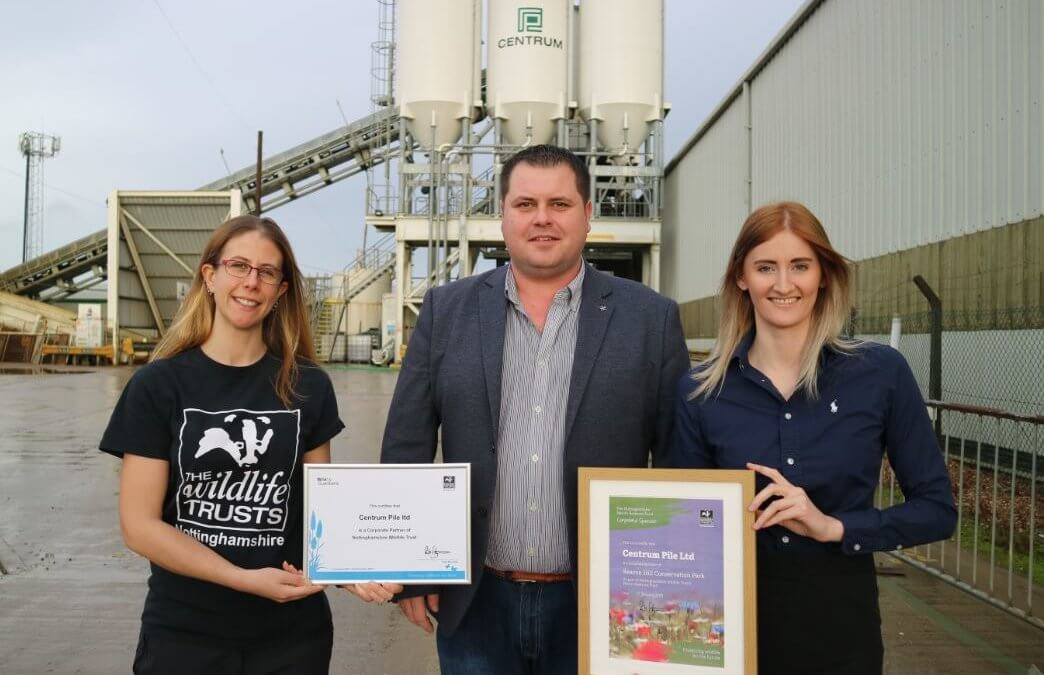 Centrum Pile announces corporate partnership with the Nottinghamshire Wildlife Trust