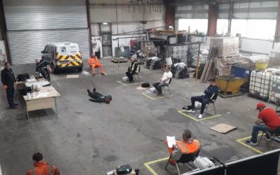 Social Distanced First Aid Training for Factory Operatives