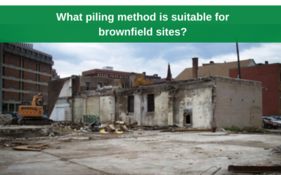 What piling method is suitable for brownfield sites?