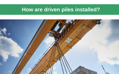 How are driven piles installed?