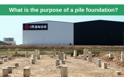 What is the purpose of a pile foundation?