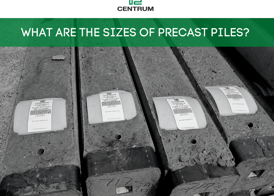 What are the sizes of precast piles?