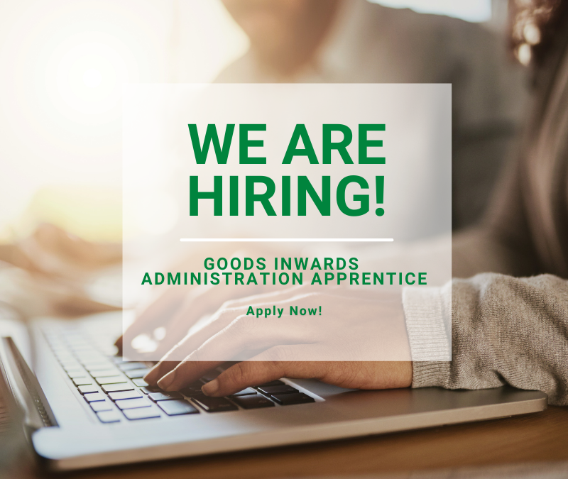We are hiring! For an Administration Apprentice